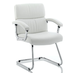 Desire Cantilever Chair White With Arms