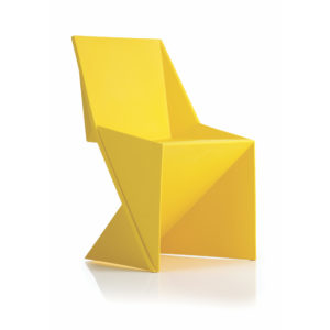 Freedom Visitor Stacking Chair Yellow Polypropylene