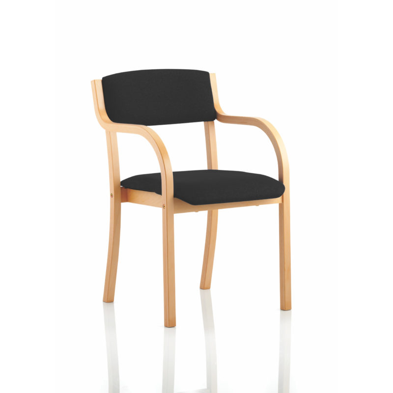 Madrid Visitor Chair Black With Arms