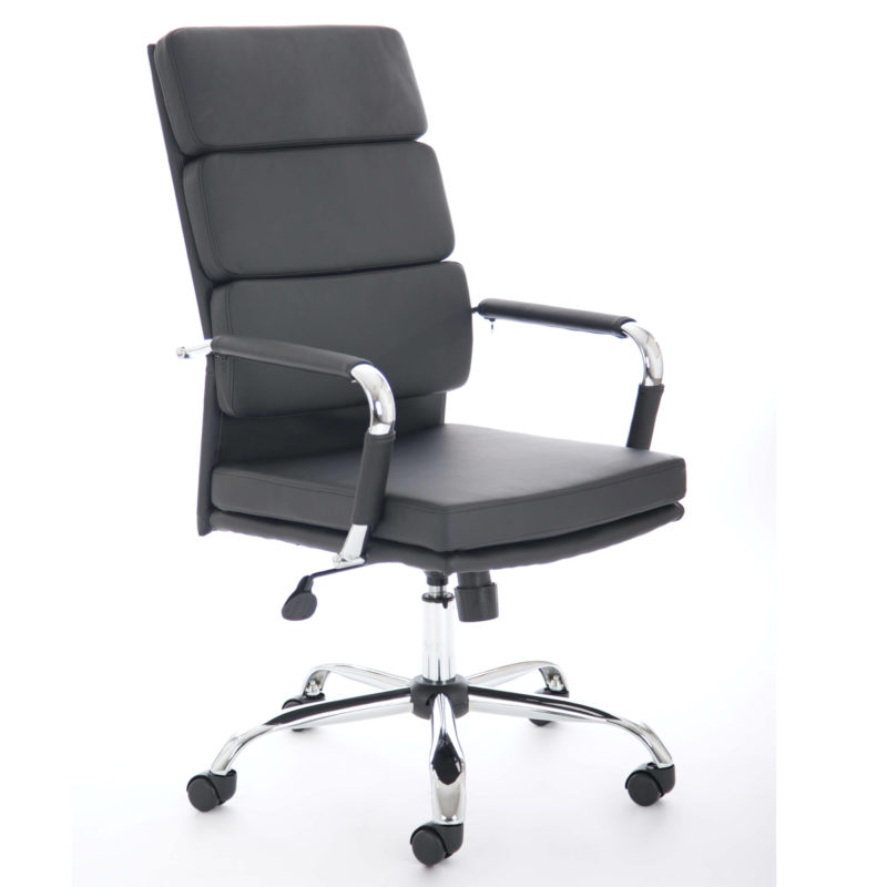 Advocate Executive Chair Black Bonded Leather With Arms