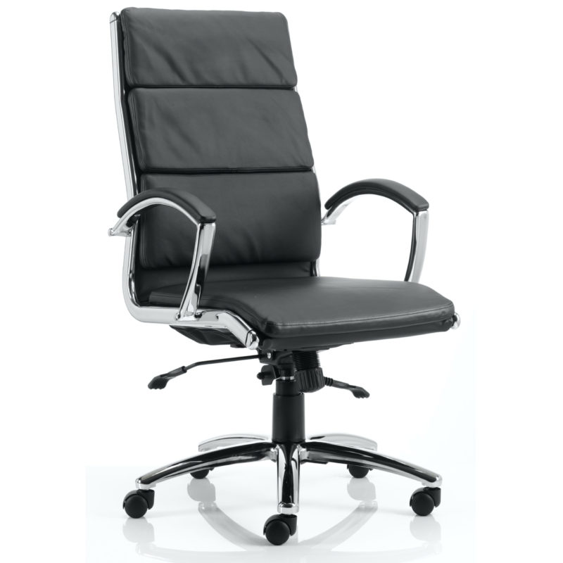 Classic Executive Chair High Back Black With Arms