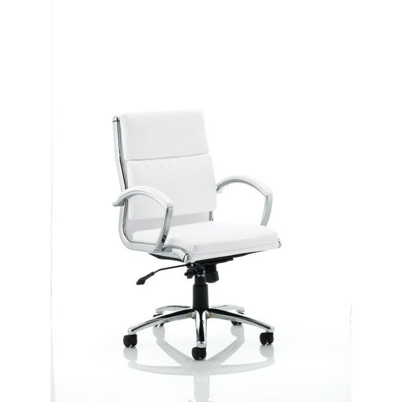 Classic Executive Chair Medium Back White With Arms
