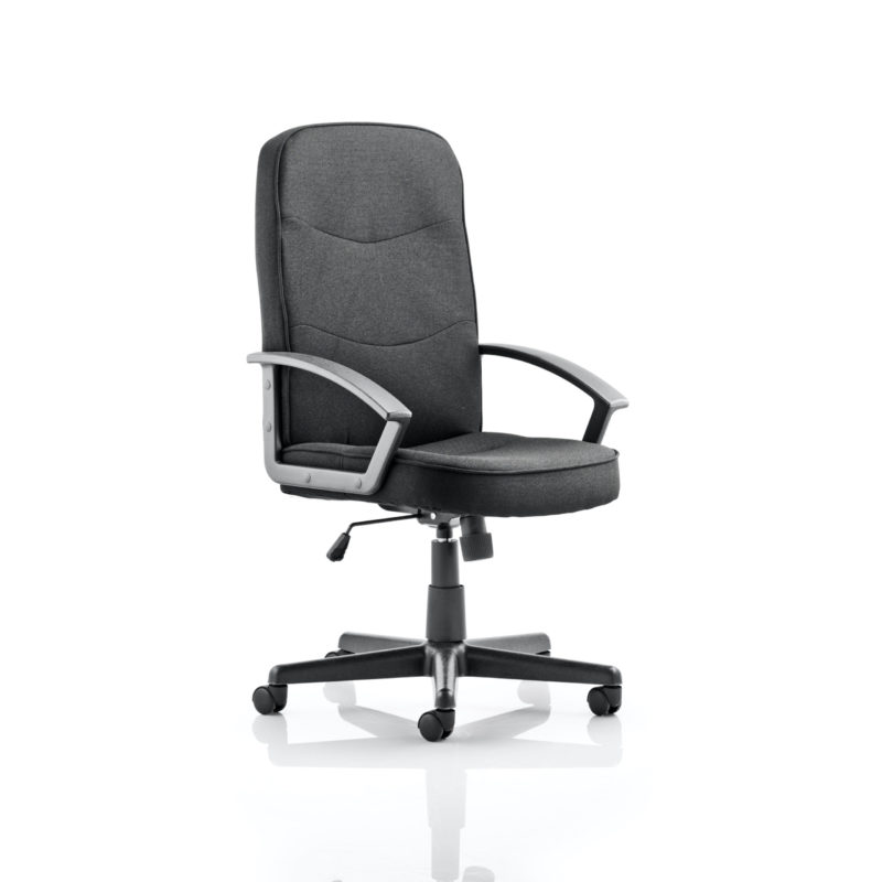 Harley Executive Chair Black Fabric With Arms