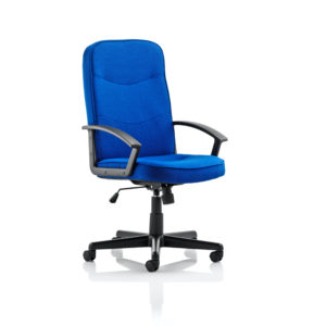 Harley Executive Chair Blue Fabric With Arms