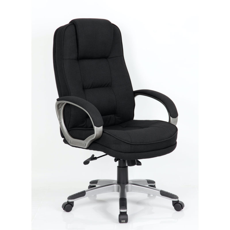 Monterey Executive Chair Black Fabric Chair With Arms