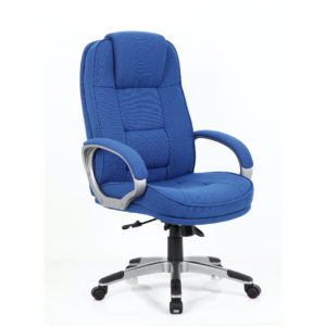 Monterey Executive Chair Blue Fabric Chair With Arms
