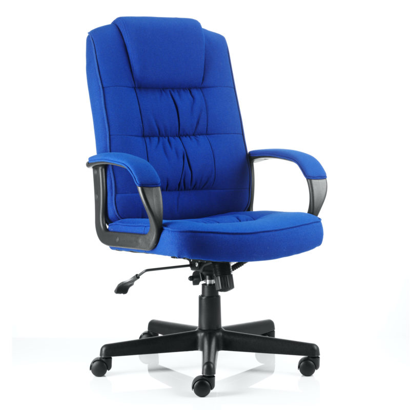 Moore Executive Chair Blue Fabric With Arms