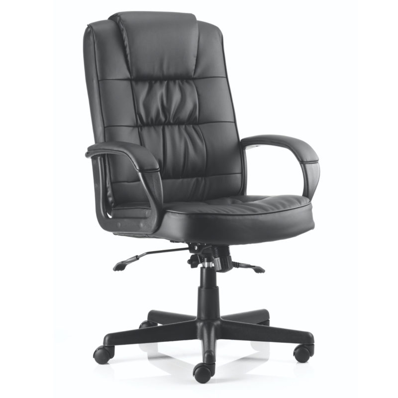 Moore Executive Black Leather With Arms