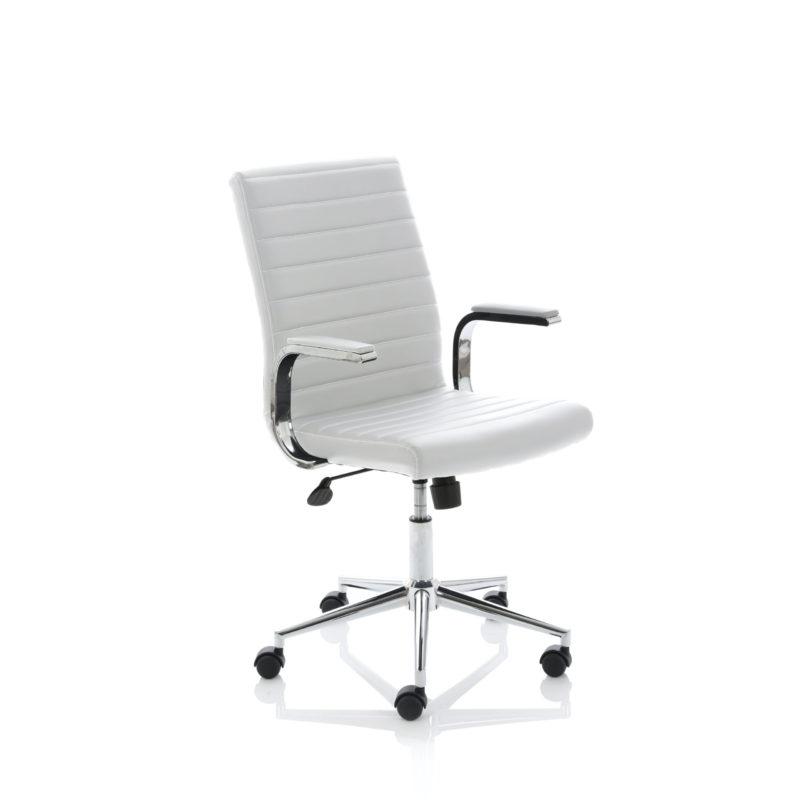 Ezra Executive White Leather Chair