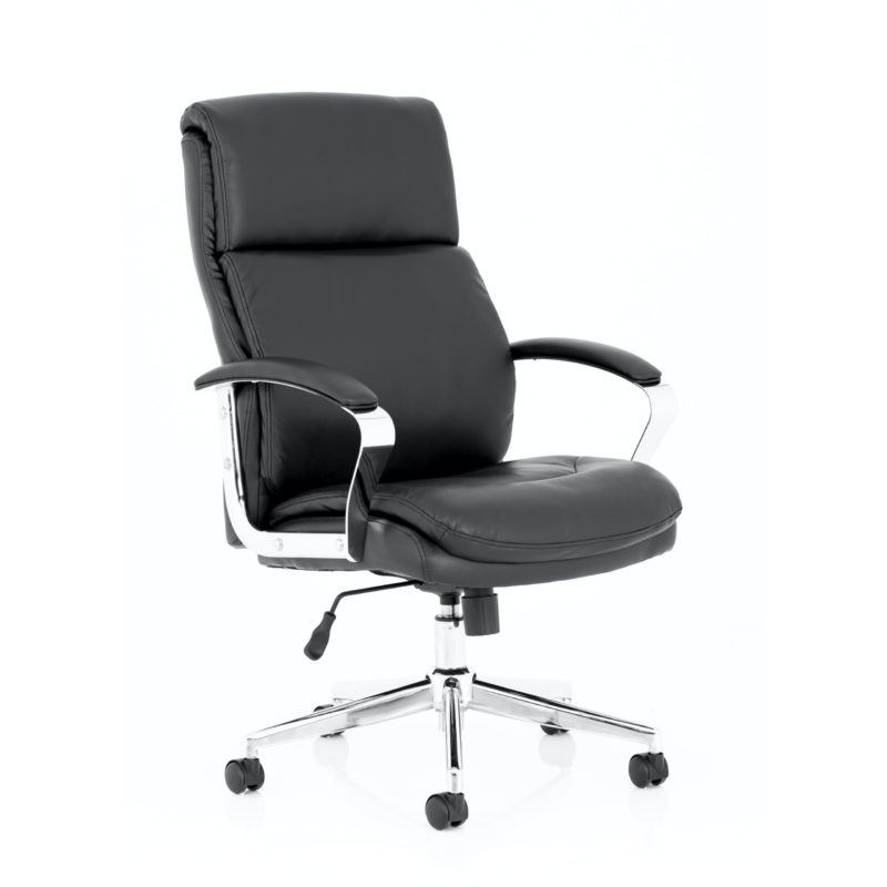 Tunis Black Bonded Leather Executive Chair