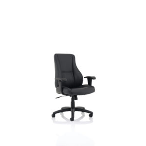 Winsor Black Leather Chair No Headrest
