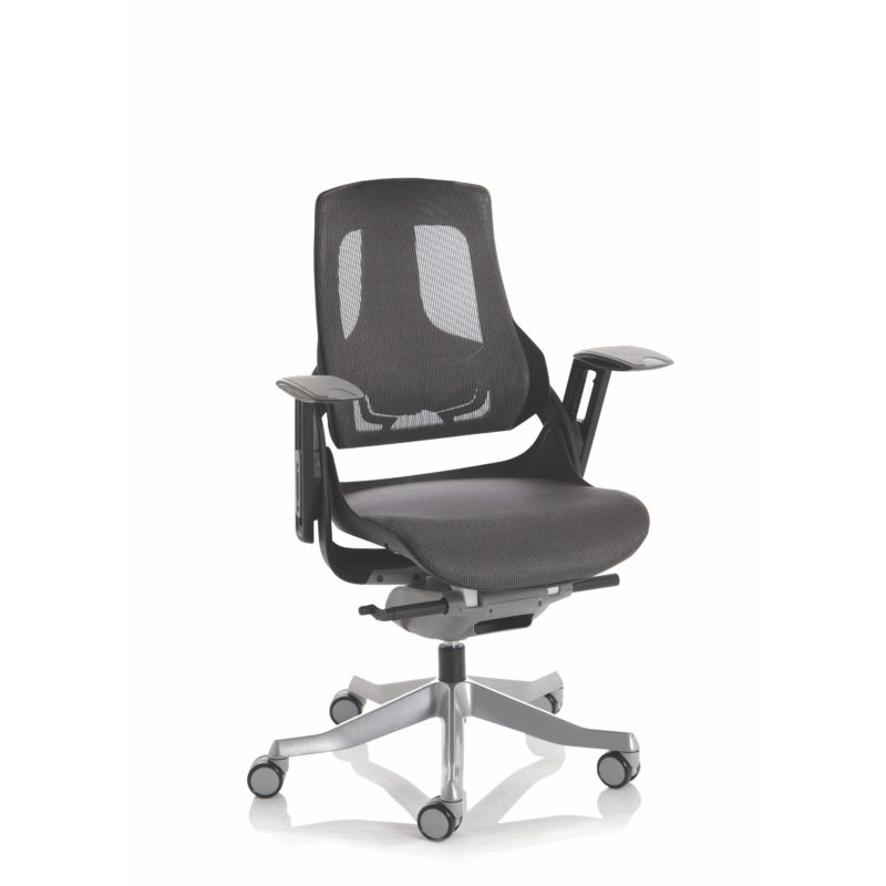 Zure Executive Chair Black Frame Charcoal Mesh