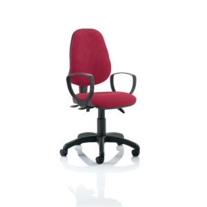 Eclipse III Lever Task Operator Chair Wine With Loop Arms