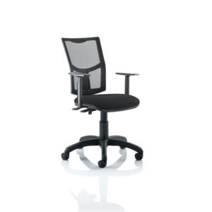 Eclipse II Lever Task Operator Chair Mesh Back With Black Seat With Height Adjustable Arms
