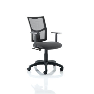 Eclipse II Lever Task Operator Chair Mesh Back With Charcoal Seat With Height Adjustable Arms