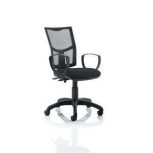 Eclipse II Lever Task Operator Chair Mesh Back With Black Seat With loop Arms
