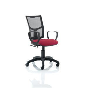 Eclipse II Lever Task Operator Chair Mesh Back With Wine Seat With loop Arms