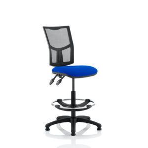 Eclipse II Lever Task Operator Chair Mesh Back With Blue Seat With Hi Rise Draughtsman Kit