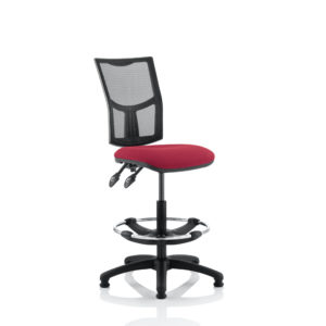 Eclipse II Lever Task Operator Chair Mesh Back With Wine Seat With Hi Rise Draughtsman Kit