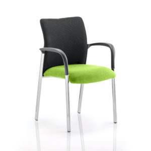 Academy Black Fabric Back Bespoke Colour Seat With Arms Myrhh Green