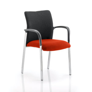 Academy Black Fabric Back Bespoke Colour Seat With Arms Tabasco Red