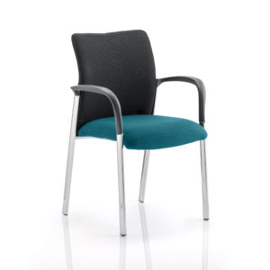 Academy Black Fabric Back Bespoke Colour Seat With Arms Maringa Teal