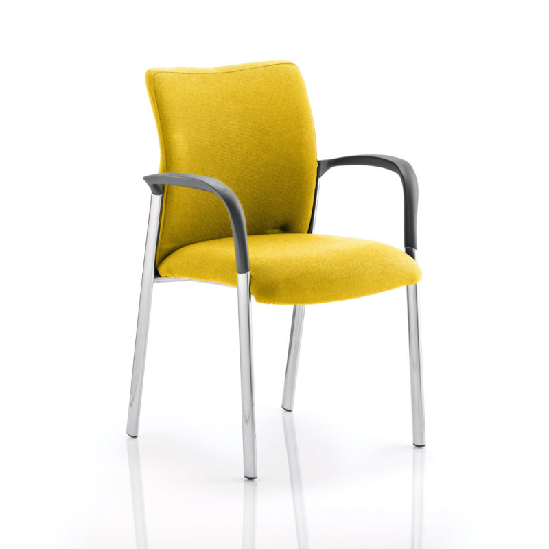 Academy Bespoke Colour Fabric Back And Bespoke Colour Seat With Arms Senna Yellow