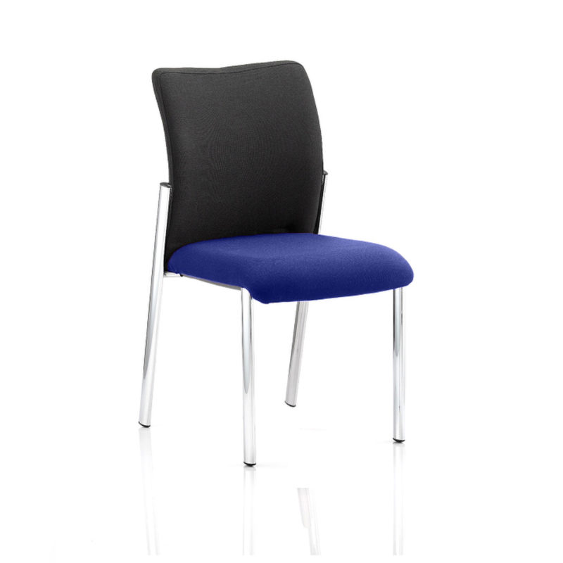 Academy Black Fabric Back Bespoke Colour Seat Without Arms Stevia Blue