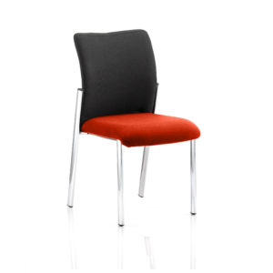 Academy Black Fabric Back Bespoke Colour Seat Without Arms Tabasco Red