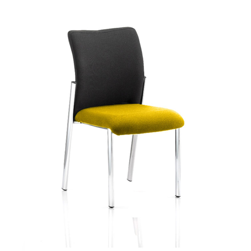Academy Black Fabric Back Bespoke Colour Seat Without Arms Senna Yellow