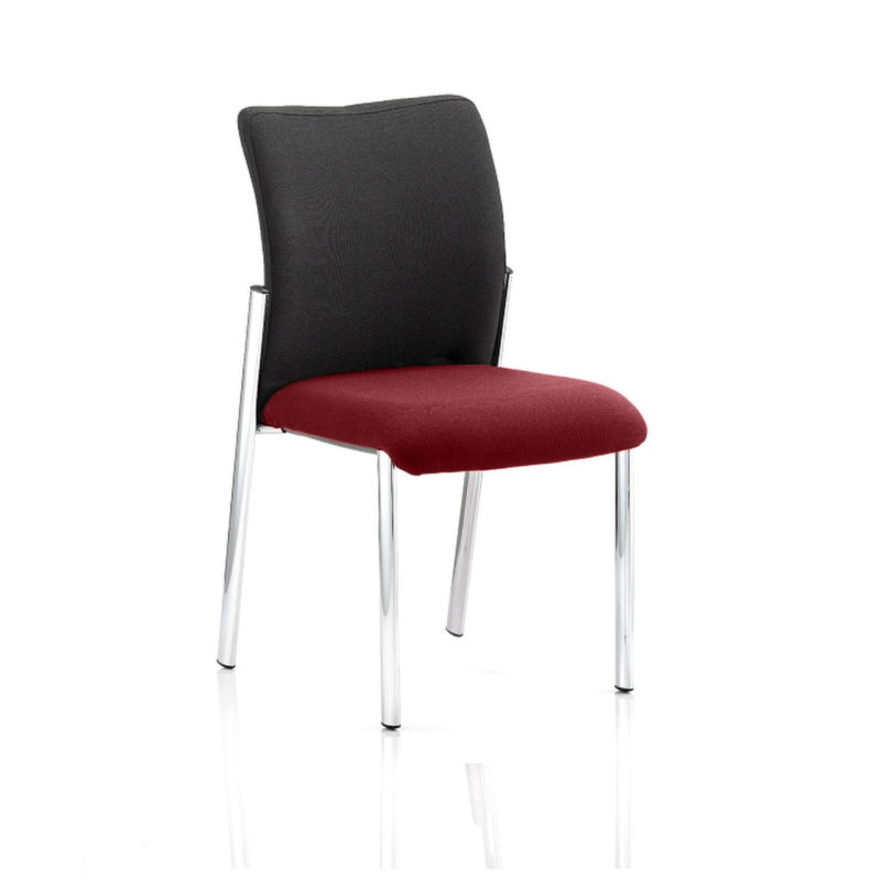 Academy Black Fabric Back Bespoke Colour Seat Without Arms Gingseng Chilli
