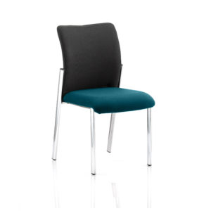 Academy Black Fabric Back Bespoke Colour Seat Without Arms Maringa Teal
