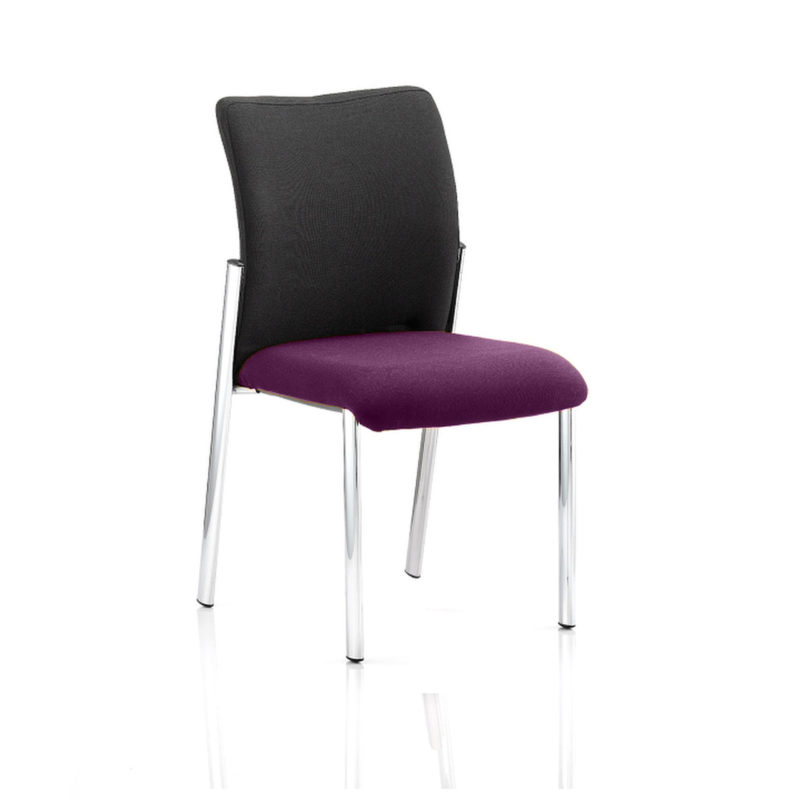 Academy Black Fabric Back Bespoke Colour Seat Without Arms Tansy Purple