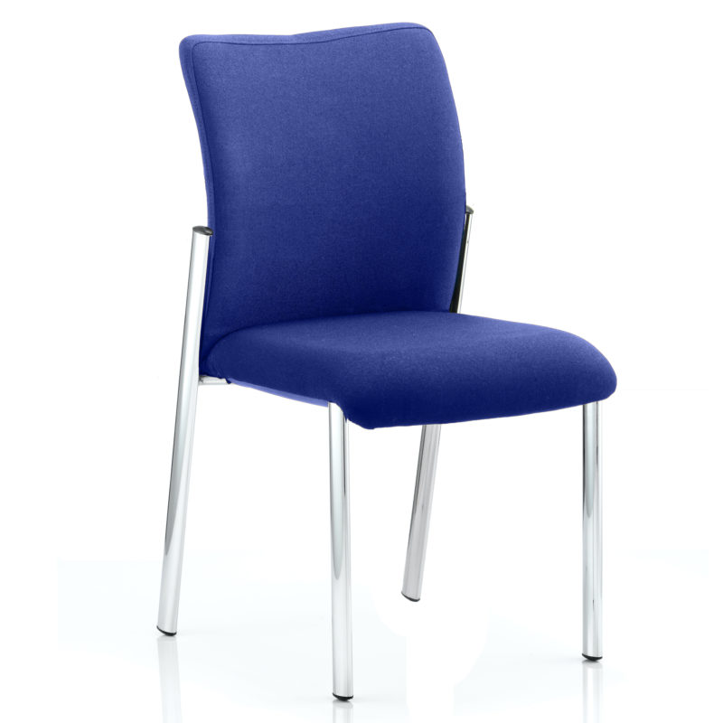 Academy Bespoke Colour Fabric Back With Bespoke Colour Seat Without Arms Stevia Blue