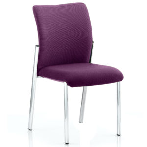 Academy Bespoke Colour Fabric Back With Bespoke Colour Seat Without Arms Tansy Purple