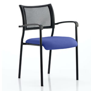 Brunswick Bespoke Colour Seat Black Frame Stevia Blue