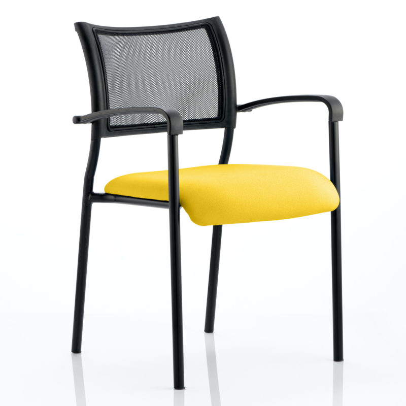 Brunswick Bespoke Colour Seat Black Frame Senna Yellow