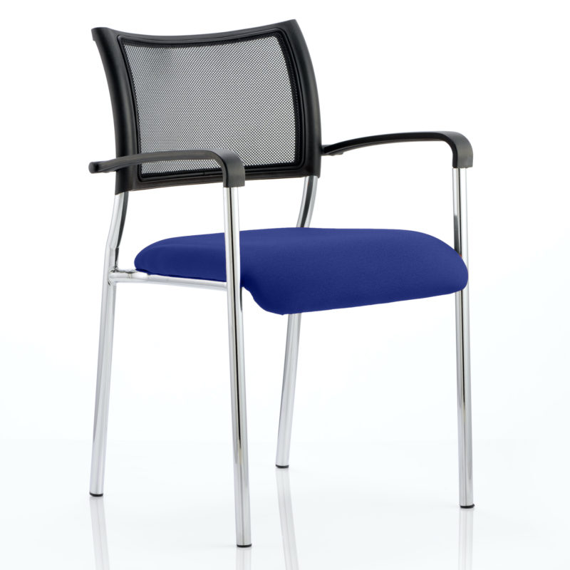 Brunswick Bespoke Colour Seat Chrome Frame Stevia Blue