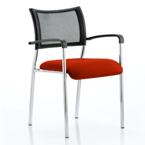 Brunswick Bespoke Colour Seat Chrome Frame Tabasco Red