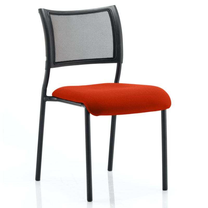 Brunswick No Arm Bespoke Colour Seat Black Frame Tabasco Red