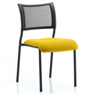 Brunswick No Arm Bespoke Colour Seat Black Frame Senna Yellow