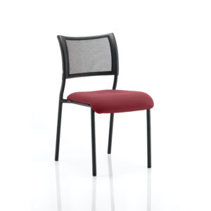 Brunswick No Arm Bespoke Colour Seat Black Frame Gingseng Chilli