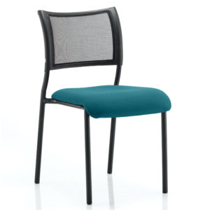 Brunswick No Arm Bespoke Colour Seat Black Frame Maringa Teal