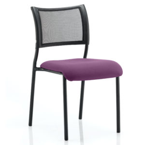 Brunswick No Arm Bespoke Colour Seat Black Frame Tansy Purple