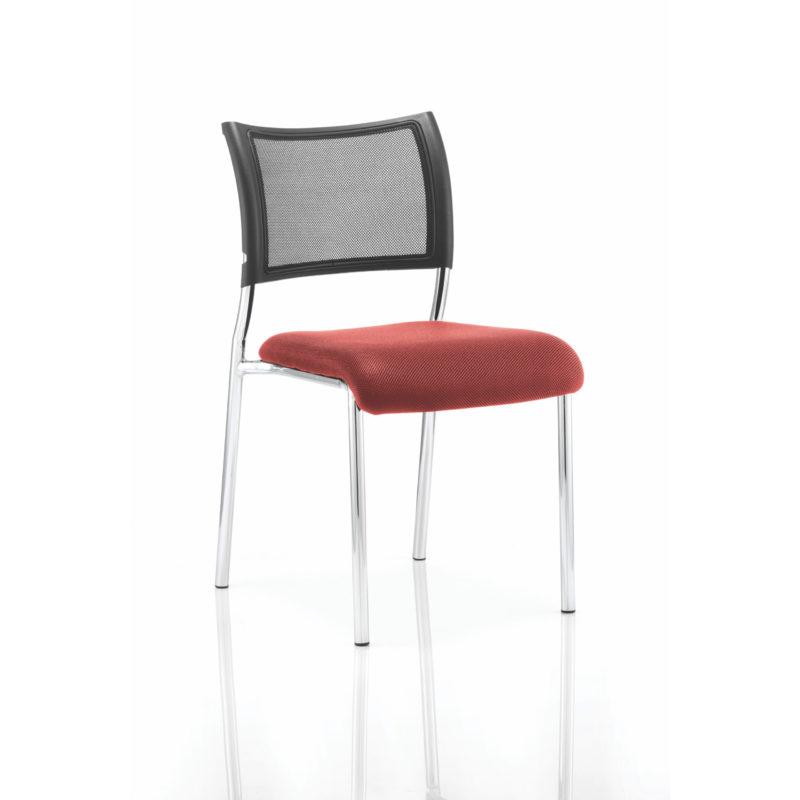 Brunswick No Arm Bespoke Colour Seat Chrome Frame Bergamot Cherry
