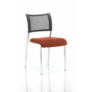 Brunswick No Arm Bespoke Colour Seat Chrome Frame Tabasco Red