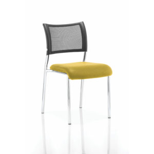 Brunswick No Arm Bespoke Colour Seat Chrome Frame Senna Yellow
