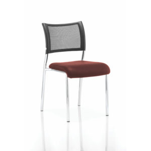 Brunswick No Arm Bespoke Colour Seat Chrome Frame Gingseng Chilli