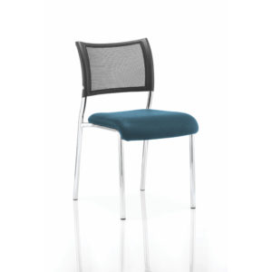 Brunswick No Arm Bespoke Colour Seat Chrome Frame Maringa Teal