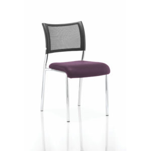 Brunswick No Arm Bespoke Colour Seat Chrome Frame Tansy Purple